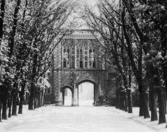 Brighton College shivers in the winter of 1910