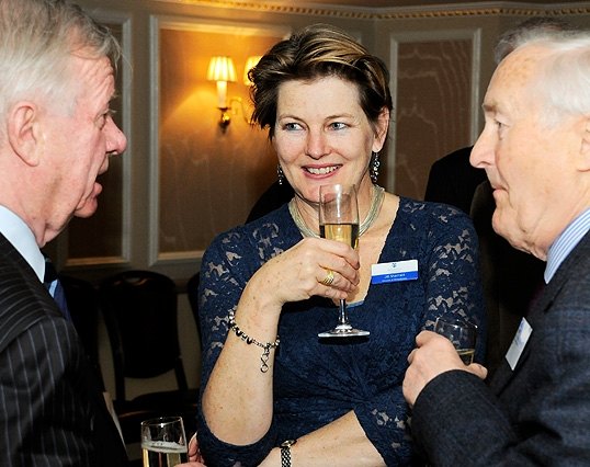 Sir John Chilcot (H/S. 1952-57), Jill Sherratt (Director Of Philanthropy), Clive Nicholls